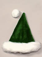 green-plush-santa-hat